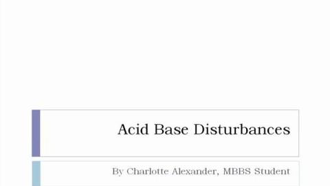 Dummies Guide to Acid Base Disturbances