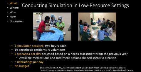 Conducting Simulation in Low Resource Settings